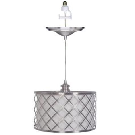 Pendant L Shade Kit by Home Decorators Collection Paula 1 Light Brushed Nickel
