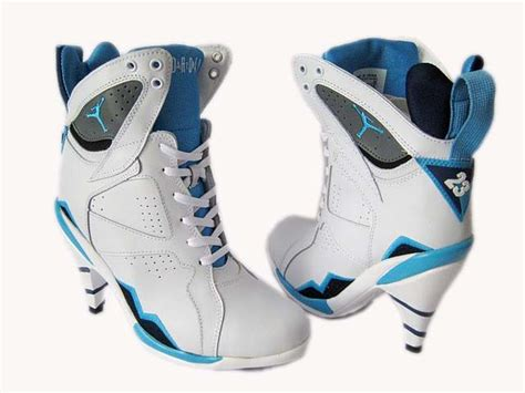 white blue high heels nike air 7 high heels shoes white blue air