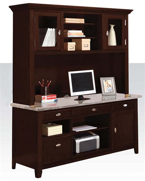 Modern Desk Hutch Contemporary Office Desk W Hutch By Acme Furniture Ac92012dh