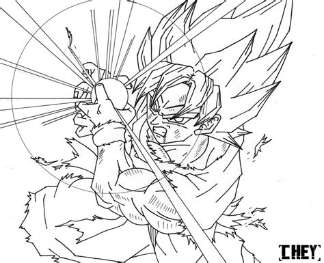 imagenes de goku haciendo el kamehameha para dibujar goku ssj kamehameha lineart by cheygipe on deviantart