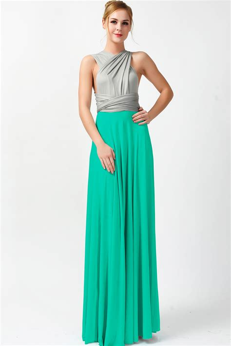 teal color dresses two colors infinity bridesmaid dresses gray and teal green