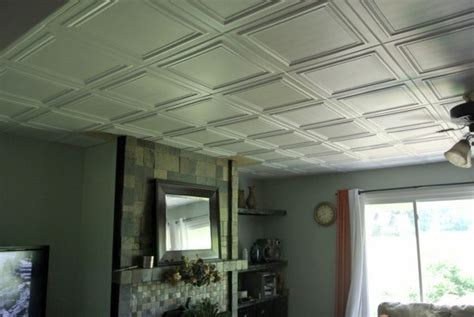 cover popcorn ceiling with tiles budget upgrade bye popcorn ceiling