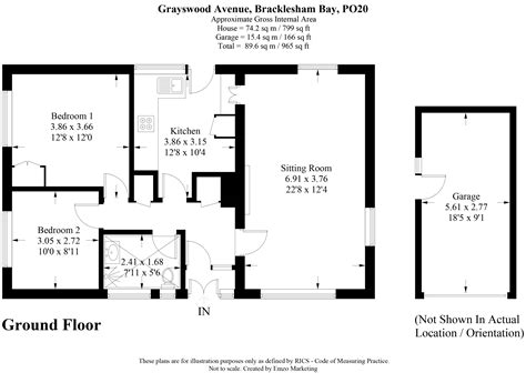 10 Chichester Place Floor Plans - 2 bed bungalow for sale in grayswood avenue bracklesham