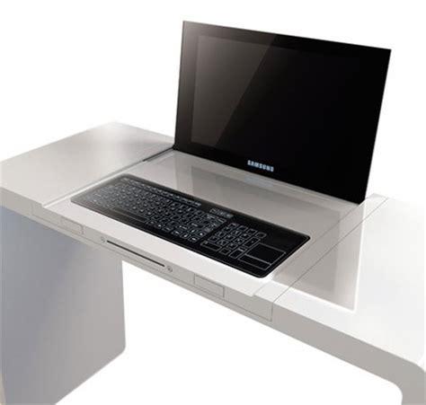 high tech computer desk hi tech desk with integrated laptop 187 every tech