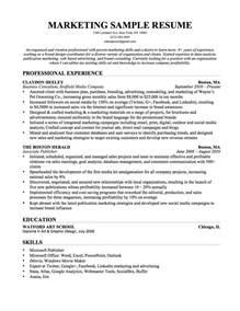 sle resume marketing manager best custom