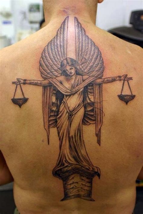 angel justice tattoo 35 libra zodiac sign tattoo designs