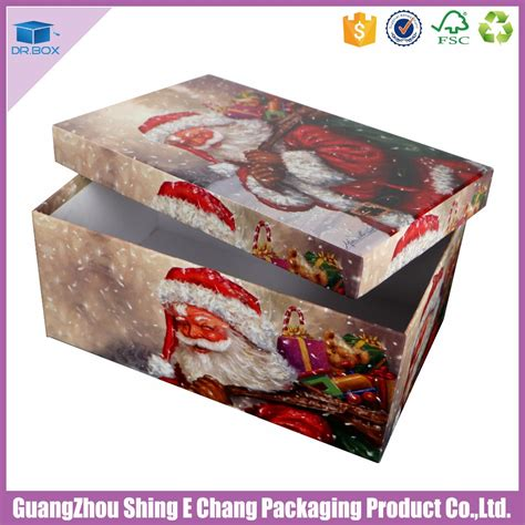 new custom handmade cmyk printed christmas gift boxes with