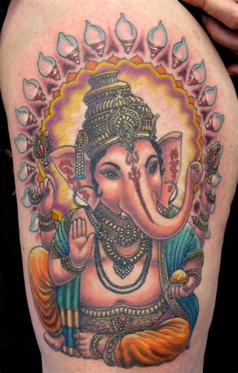 ganesh elephant tattoo designs most tattoos of ganesh show the hindu god with a large