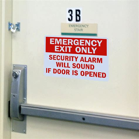 Alarm Emergency emergency exit only security alarm signs and emergency signs sku s 1506