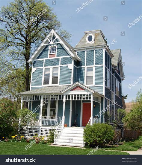 blue victorian house blue victorian house stock photo 78076696 shutterstock
