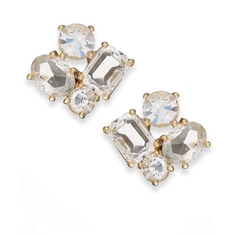 kate spade new york goldtone cluster stud earrings