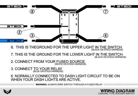 Carling Type Rocker Switch Wiring Diagram Stedi