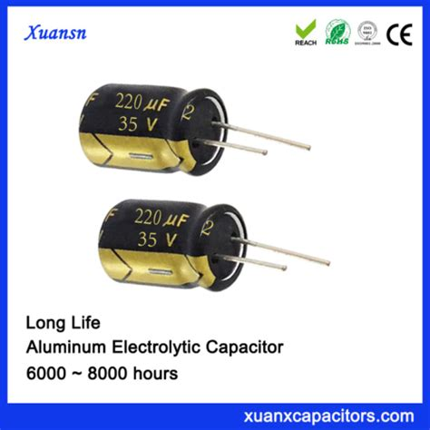 electrolytic capacitor esr vs temperature 220uf 35v high temperature al electrolytic capacitor