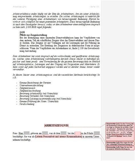 Muster Qualifiziertes Arbeitszeugnis Muster Arbeitszeugnis Vorlage Mit Erkl 228 Rungen Und
