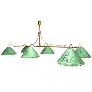 pool table lighting fixtures brass framed antique billiard snooker pool table light