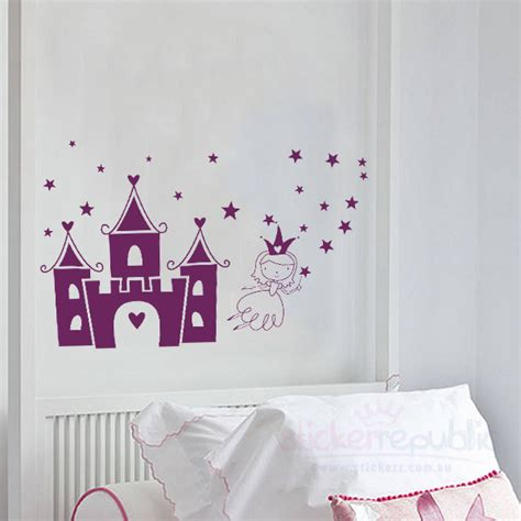 castle wall sticker princess castle wall sticker