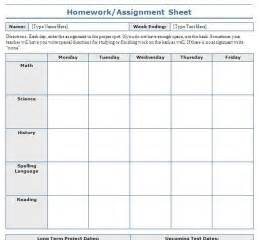 Student Assignment Planner Template School Assignment Sheet I Ll Have The Coolest Classroom