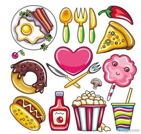 cartoon food 4 designer cartoon food 02 vector material