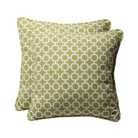 Outdoor Pillows Lowes by Shop Pillow Hockley 2 Pack Green Geometric Square