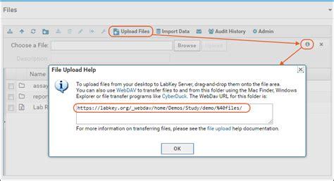 upload files webdav documentation