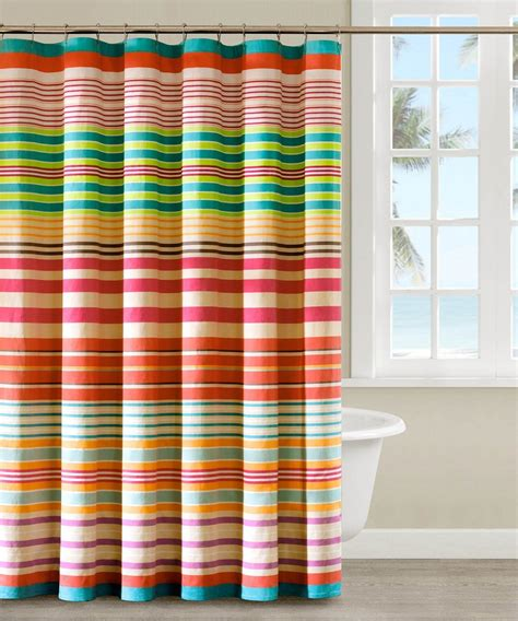 Striped Shower Curtains Fashionable Striped Shower Curtain The Homy Design