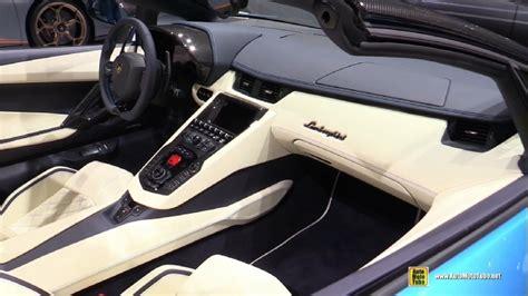lamborghini aventador s roadster interior 2018 lamborghini aventador s roadster at 2017 frankfurt motor show