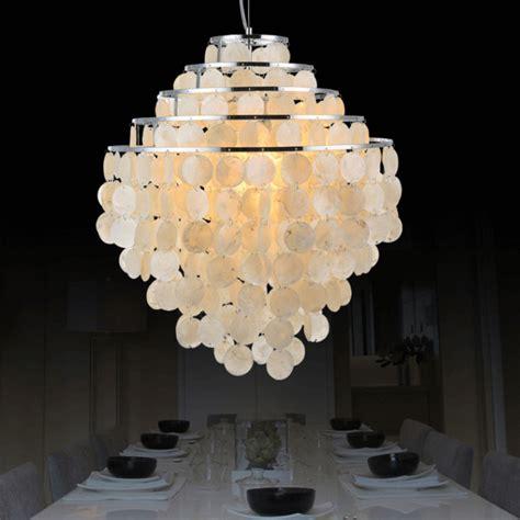 Seashell Light Fixtures Nordic Pastoral Seashell Pendant Lights Fixture 5 Circles Sea Shell Droplight Home