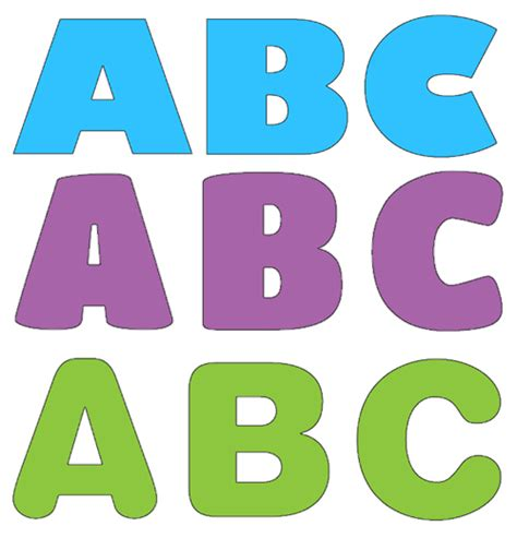 printable alphabet letters for bulletin boards printable letter cutouts a z pamela s preschool