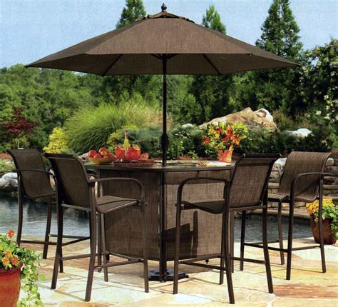 stylish patio bar chairs sets height outdoor table