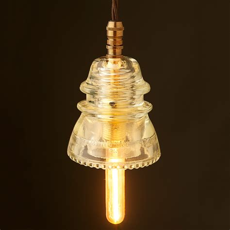 Insulator Pendant Light Hemingray Insulator No42 Clear Ses Pendant Light