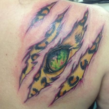 Tattoo Animal Skin   leopard skin rip by brian gallagher tattoonow