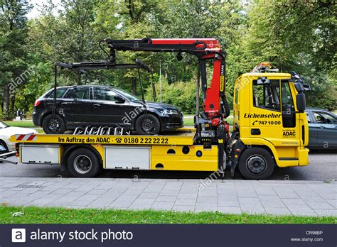 recovery vehicle wrecker truck from germany buy tow truck ab6747 car on a tow truck munich bavaria germany europe stock
