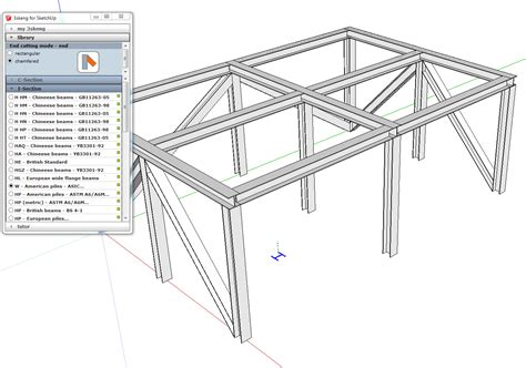 sketchup layout label tool 3skeng steelwork for mac and pc sketchup extension