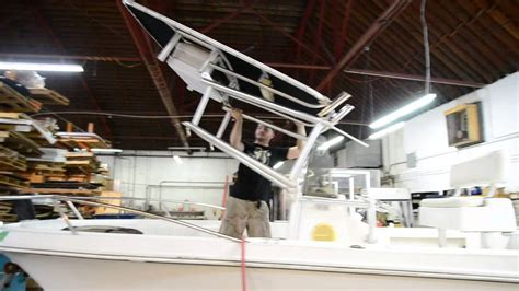 folding t top youtube - Fold Down T Tops For Boats