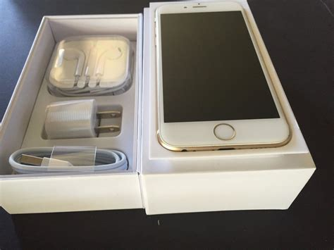 Iphone 6 Gold 64gb Fullset 1 new iphone 6 64gb gold for sprint or sprint prepaid ting freedompop ringplus 885909951093 ebay