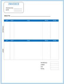 consultant invoice template free contractor invoice template free invoice exle
