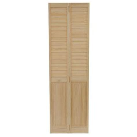 home depot louvered doors interior bay 24 in x 80 in 24 in plantation louvered solid unfinished panel wood
