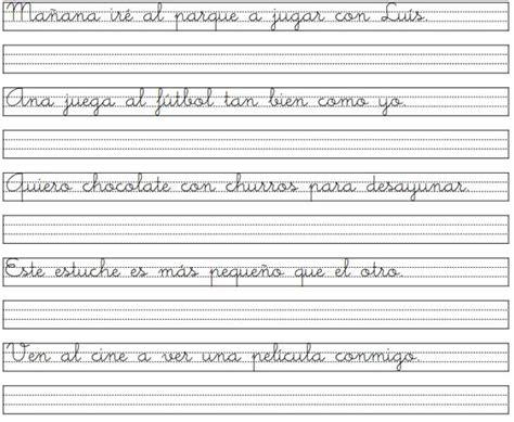 hojas para caligrafia pdf ejercicios de caligraf 237 a script imagui