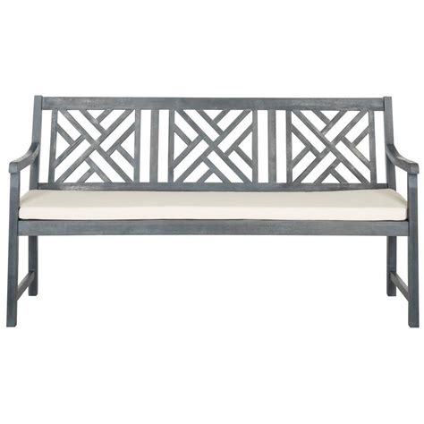 wood bench home depot safavieh luca natural brown acacia wood folding patio