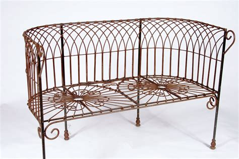 rot iron bench wrought iron cathedral bench heavy metal seating