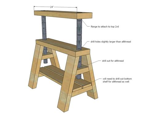 bondage bench plans adjustable sawhorse plans free woodworking projects plans