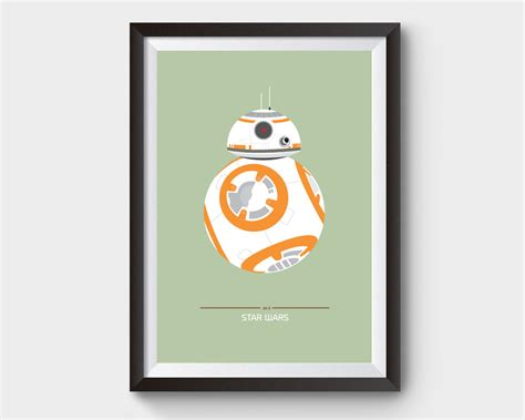 bb8 wars poster a3 print by archive