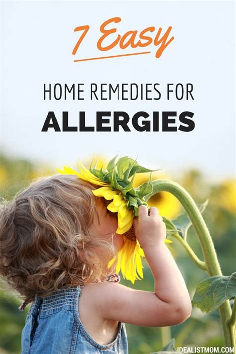 7 easy home remedies for allergies that actually work