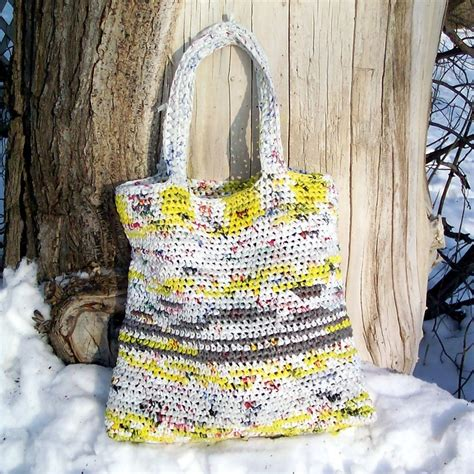crochet pattern for plarn bag pin by bonnie payeur on plarn pinterest