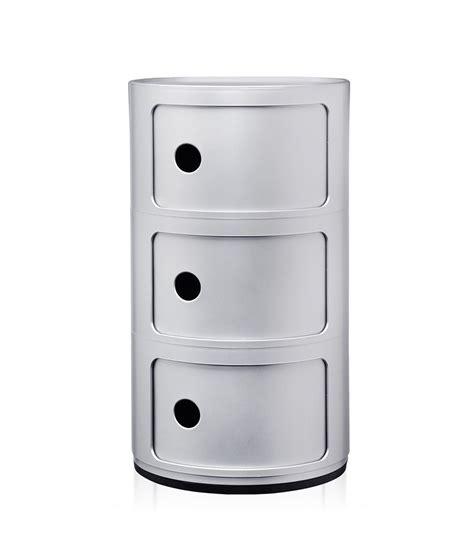 comodini kartell prezzi kartell comodino componibili a tre elementi silver abs