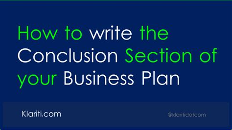 What To Write In The Conclusion Of An Essay by How To Write The Conclusion Of Your Business Plan