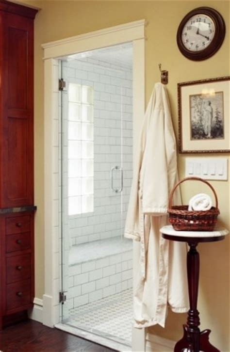Shower Door Trim Trim Work Around Shower Door Farmhouse Bathrooms Pinterest Shower Walls The Doors And Glasses