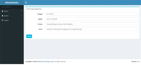 membuat agenda kegiatan dengan php membuat admin panel agenda dengan php mysql