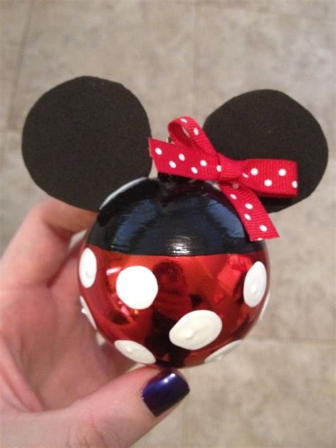 diy minnie mouse ornament diy disney christmas