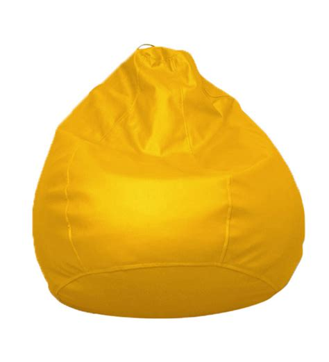 pebbleyard kids classic yellow bean bag with beans by